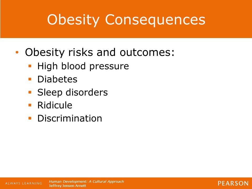 Human Development: A Cultural Approach Jeffrey Jensen Arnett Obesity Consequences Obesity risks and outcomes:  High blood pressure  Diabetes  Sleep