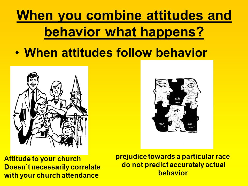 When you combine attitudes and behavior what happens.