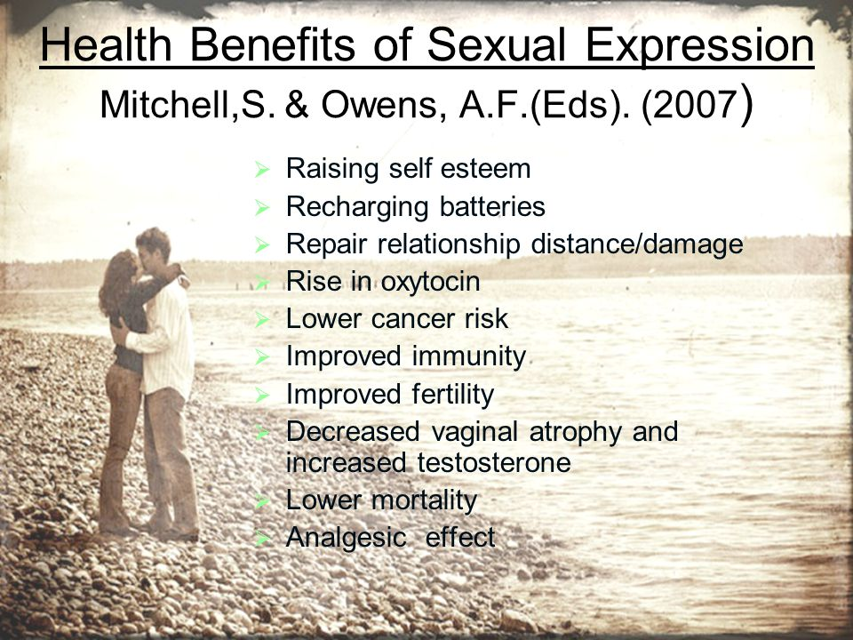 Health Benefits of Sexual Expression Mitchell,S.& Owens, A.F.(Eds).