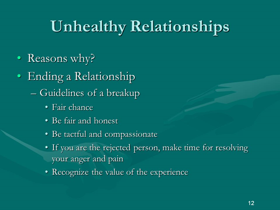Unhealthy Relationships Reasons why Reasons why.