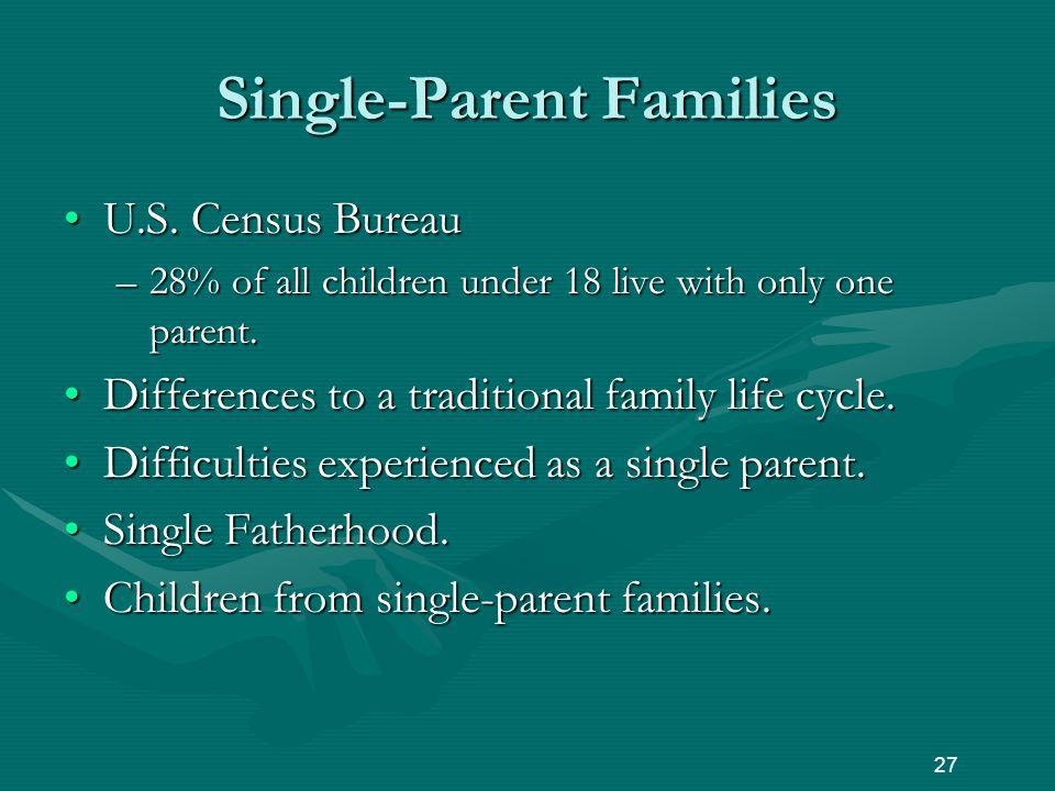 Single-Parent Families U.S. Census BureauU.S.