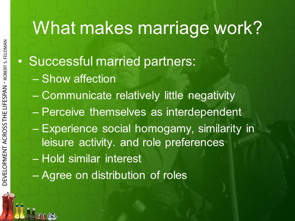 What makes marriage work.