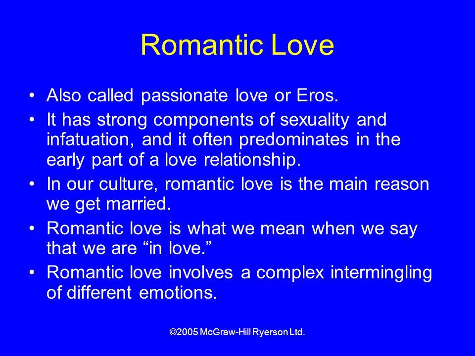 ©2005 McGraw-Hill Ryerson Ltd.Romantic Love Also called passionate love or Eros.