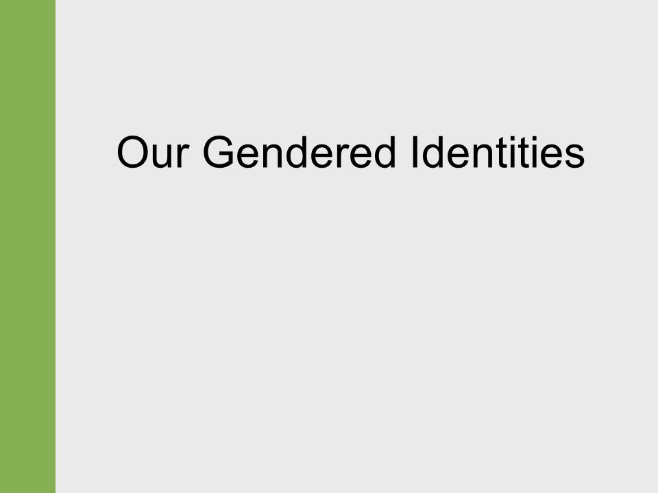 Our Gendered Identities
