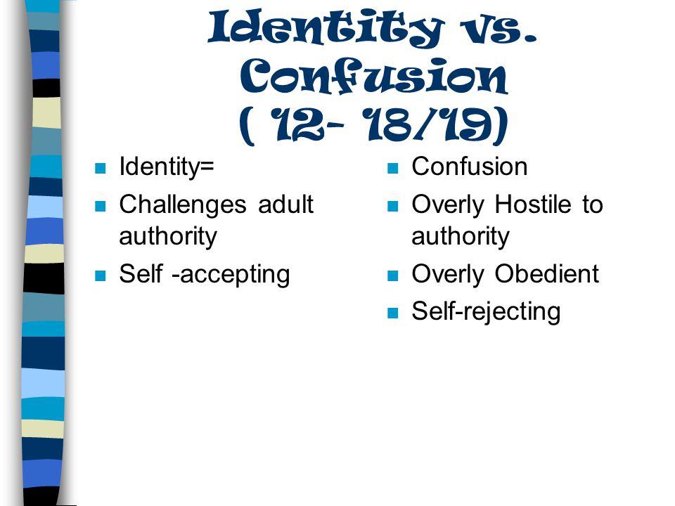 Identity Vs. Role Confusion