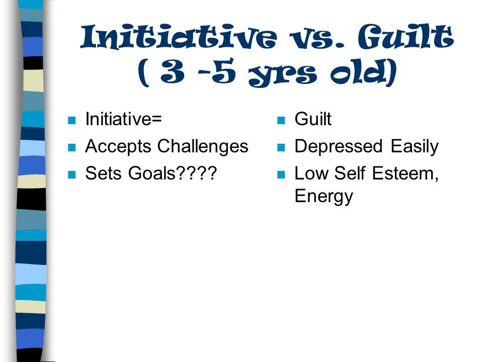 Initiative vs. Guilt