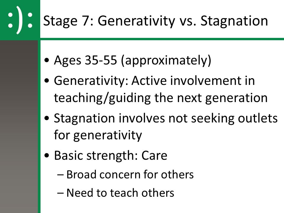 Stage 7: Generativity vs.