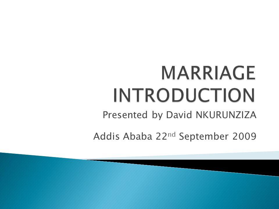 Presented by David NKURUNZIZA Addis Ababa 22 nd September 2009