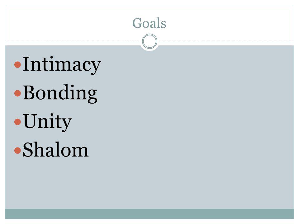 Goals Intimacy Bonding Unity Shalom