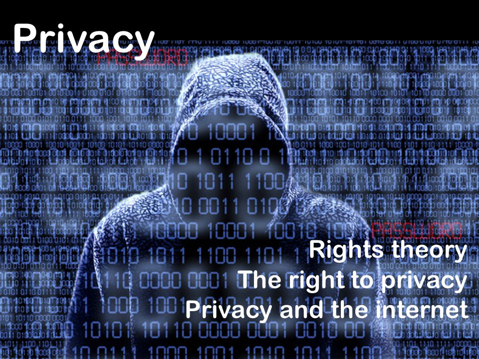 Privacy Rights theory The right to privacy Privacy and the internet