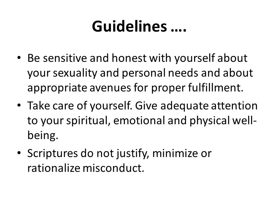 Guidelines ….