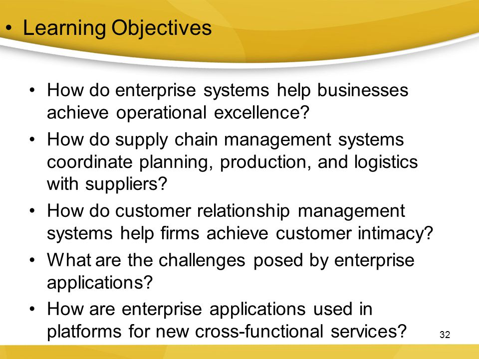 How do enterprise systems help businesses achieve operational excellence.