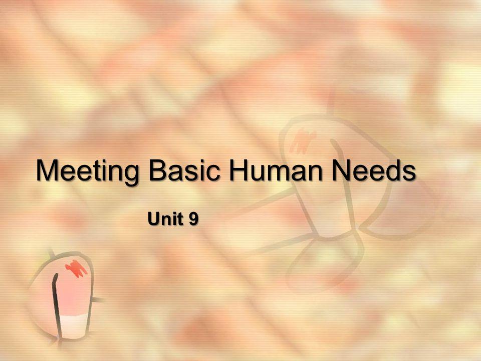 Meeting Basic Human Needs Unit 9