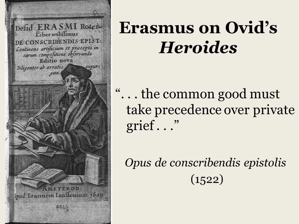 Erasmus on Ovid's Heroides ...