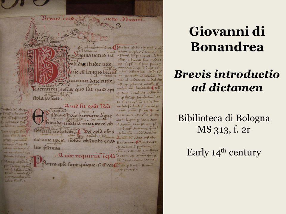 Giovanni di Bonandrea Brevis introductio ad dictamen View from my apartment.