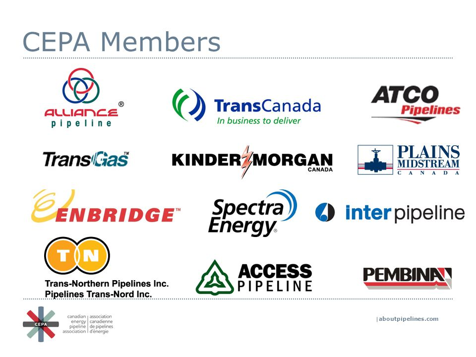 aboutpipelines.com Continual improvement leading to zero incidents Leadership & Governance CEPA Integrity First ® Management Systems & Operating Practices Safety Culture Technology & Innovation Getting to zero incidents Accountability, performance and execution Priorities driven by CEPA Integrity First in 2014: Pipeline Integrity Emergency Management Control Room Management