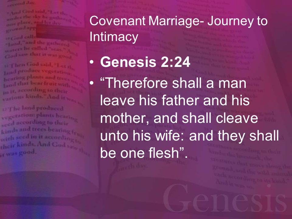 Covenant Marriage- Journey to Intimacy Transformational
