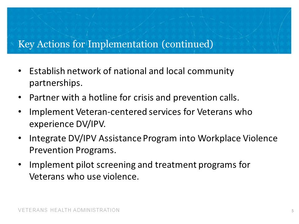 VETERANS HEALTH ADMINISTRATION DV/IPV Communities of Practice How can a Community of Practice assist us in serving Veterans who experience or use DV/IPV.