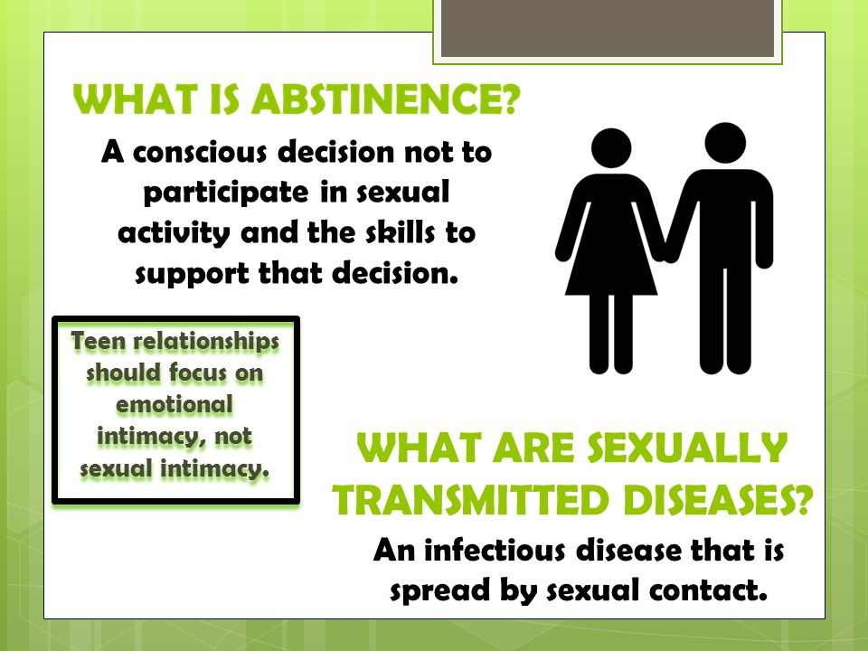WHAT ARE SEXUALLY TRANSMITTED DISEASES.