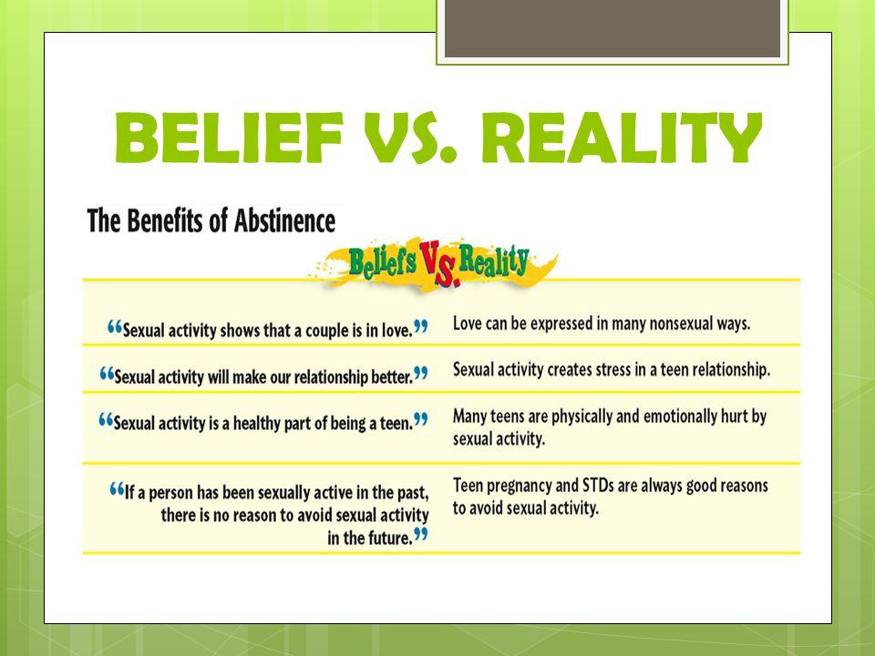 BELIEF VS. REALITY