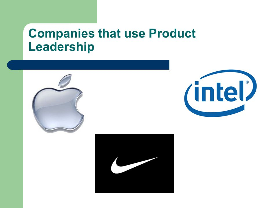 Companies that use Product Leadership