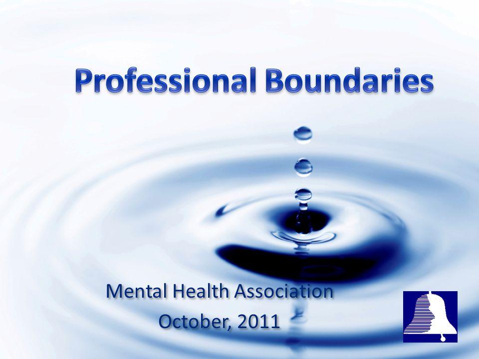 October, 2011 Mental Health Association October, 2011