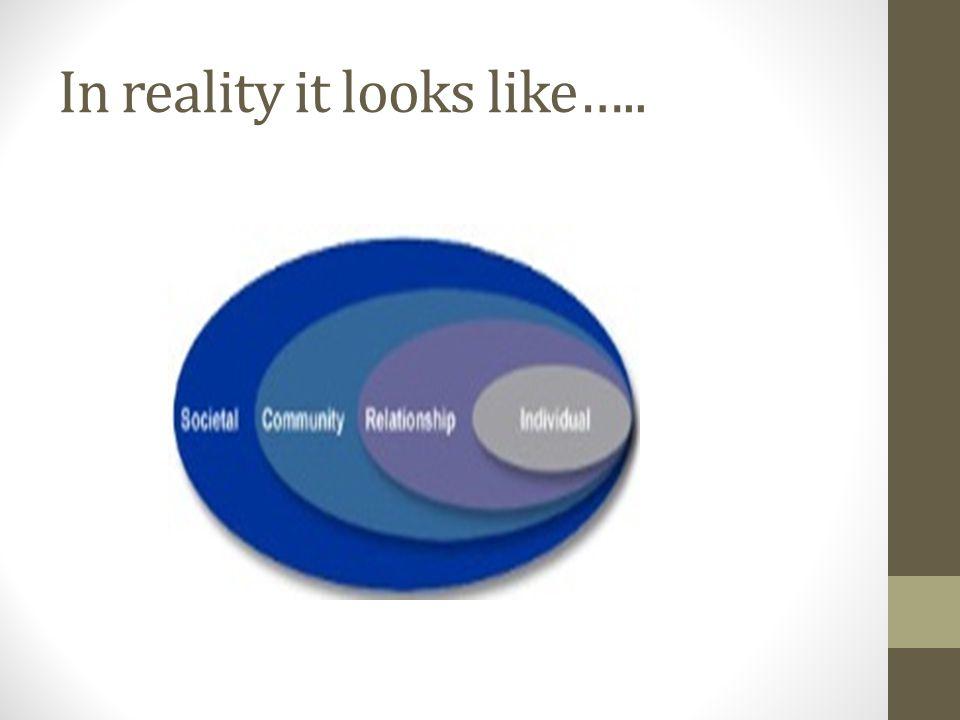 In reality it looks like…..