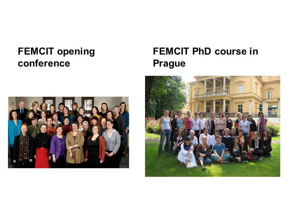 FEMCIT opening conference FEMCIT PhD course in Prague
