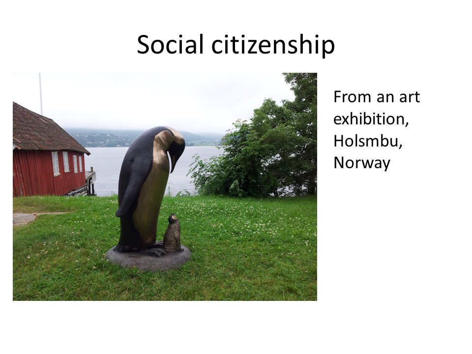 Social citizenship From an art exhibition, Holsmbu, Norway