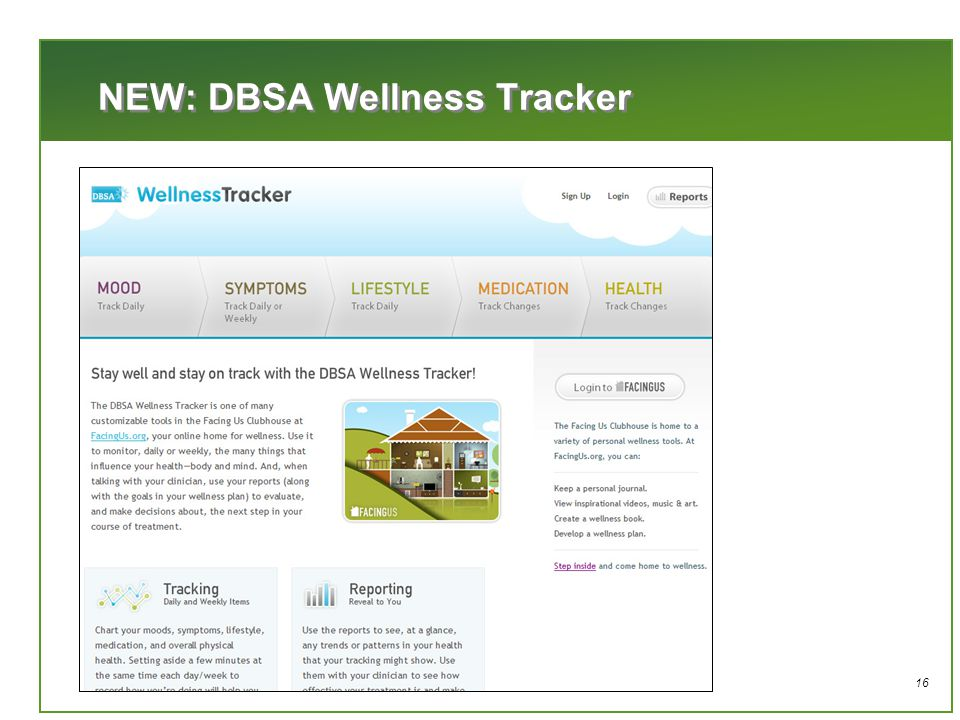 16 NEW: DBSA Wellness Tracker