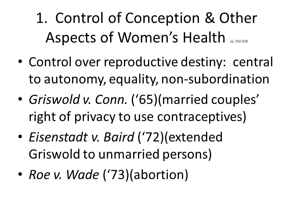 1.Control of Conception & Other Aspects of Women's Health pp.