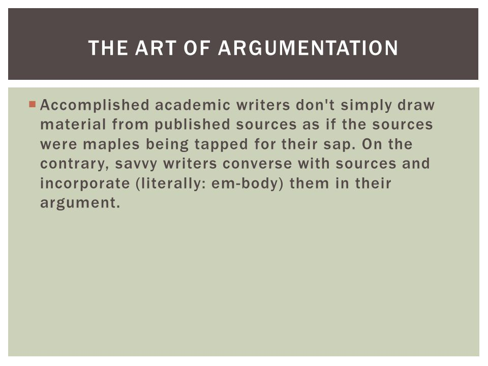 AFTER ANALYSIS: FINDING AND ESTABLISHING A POSITION Fifth, on the basis of this imagined conversation, the student needs to finesse, to refine, the point that he or she would like to make about the issue so that it can serve as a central proposition, a thesis -- as complicated and robust as the topic demands -- for his or her composition.