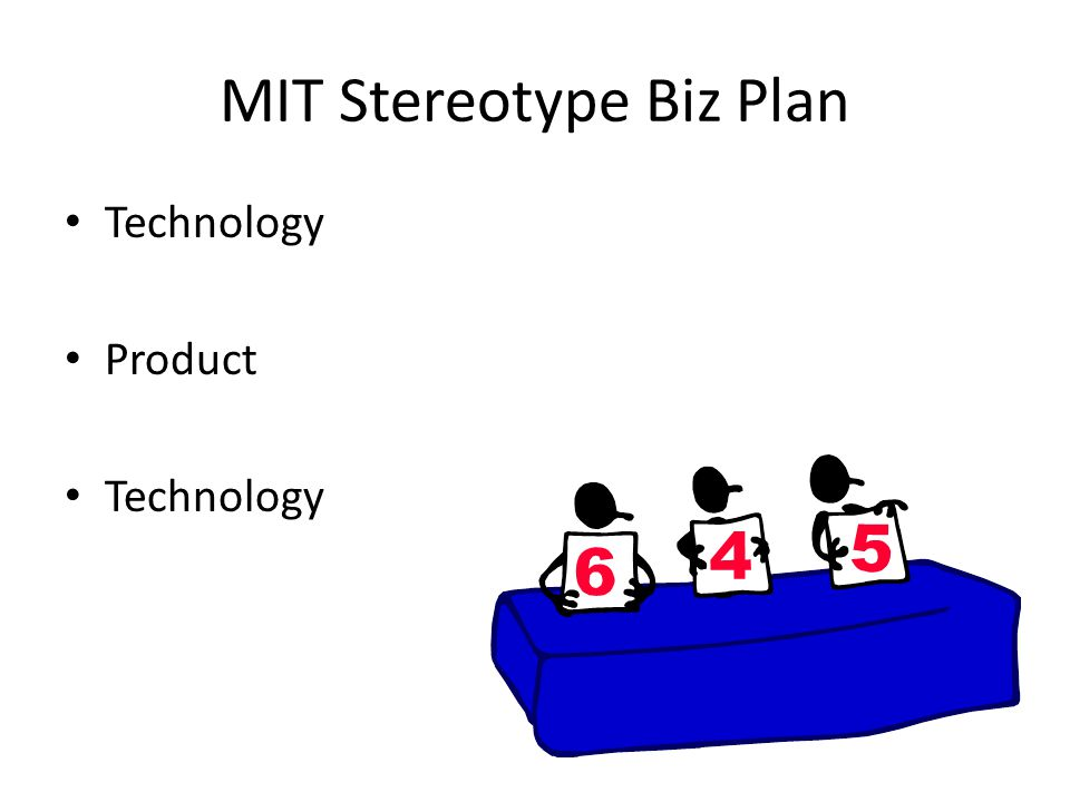 MIT Stereotype Biz Plan Technology Product Technology