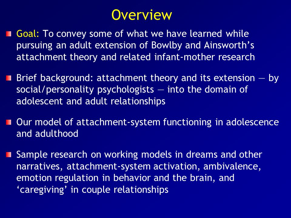 Bowlby's attachment theory Created by John Bowlby, a British psychoanalyst, based partly on primate ethology, to explain why maternal deprivation so often leads to later anxiety, anger, delinquency, and depression He published five major books about the theory between 1969 and 1988, including one on psychotherapy