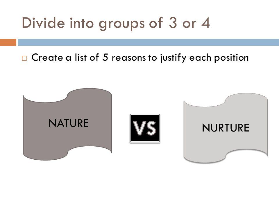 Nature vs.