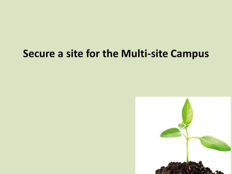 Secure a site for the Multi-site Campus