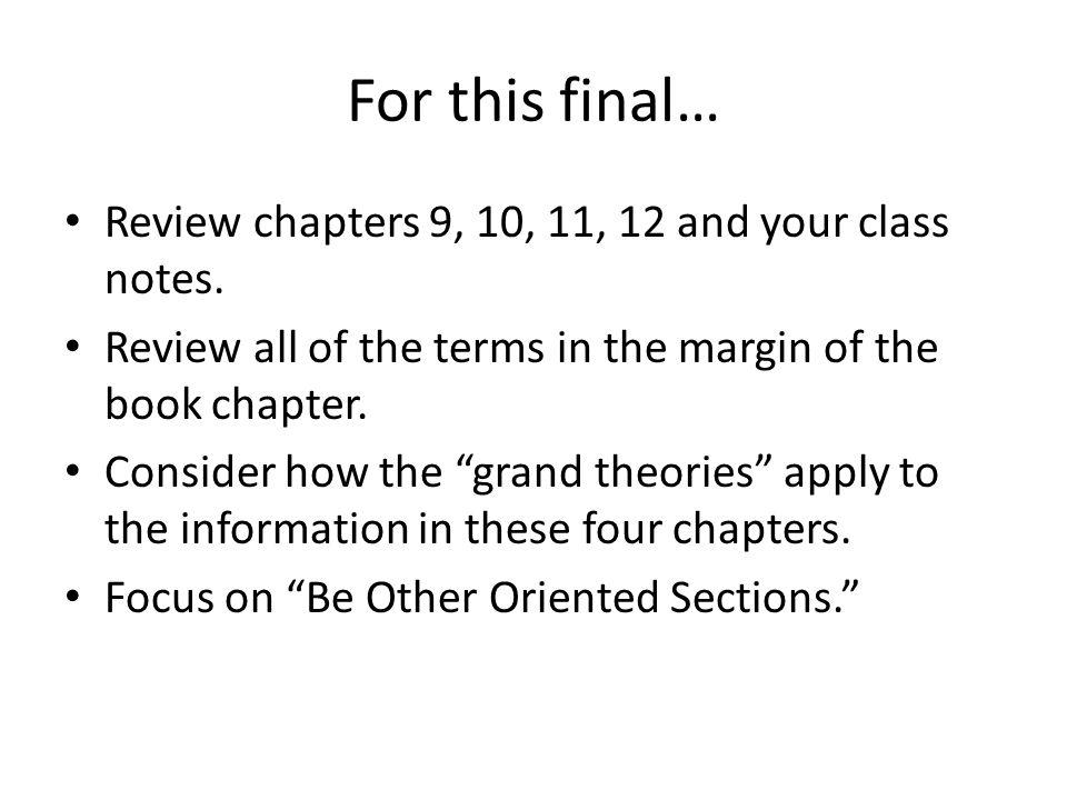 The Basics (Theory)