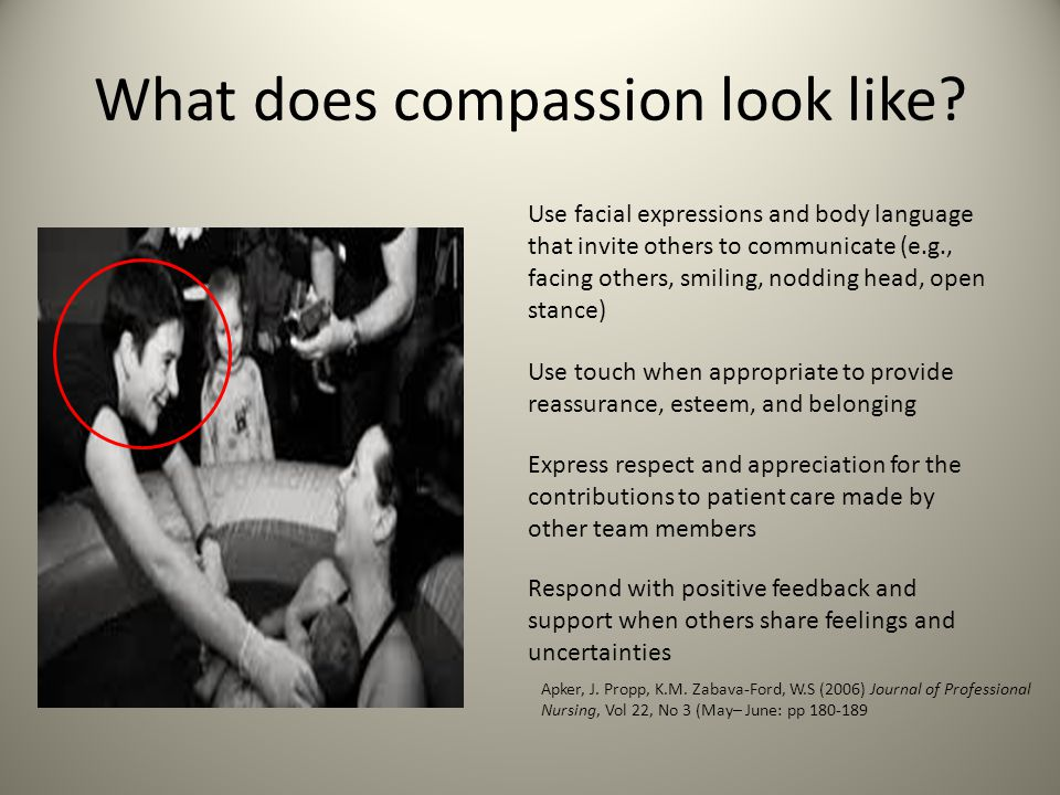 What does compassion look like.
