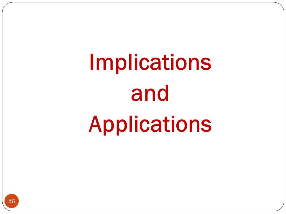 Implications and Applications 56