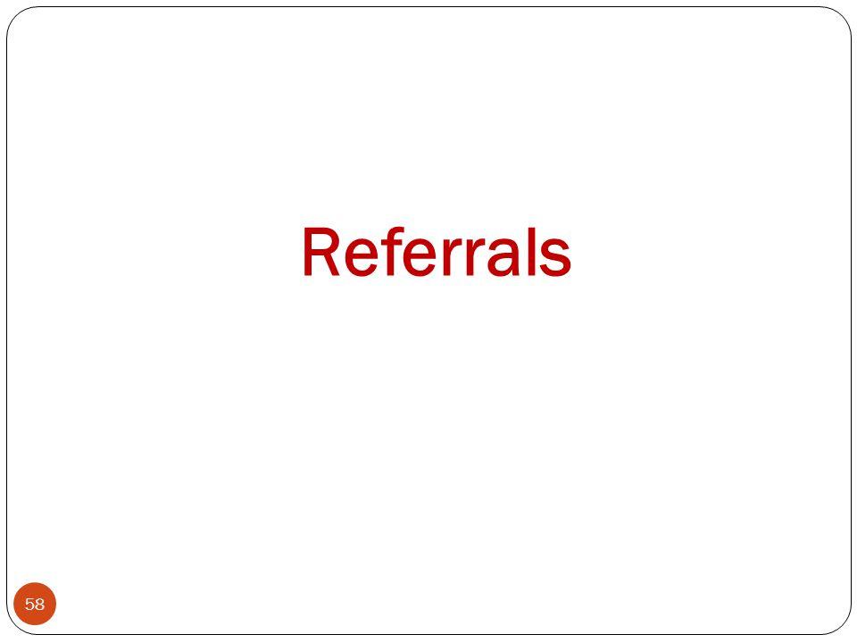 58 Referrals