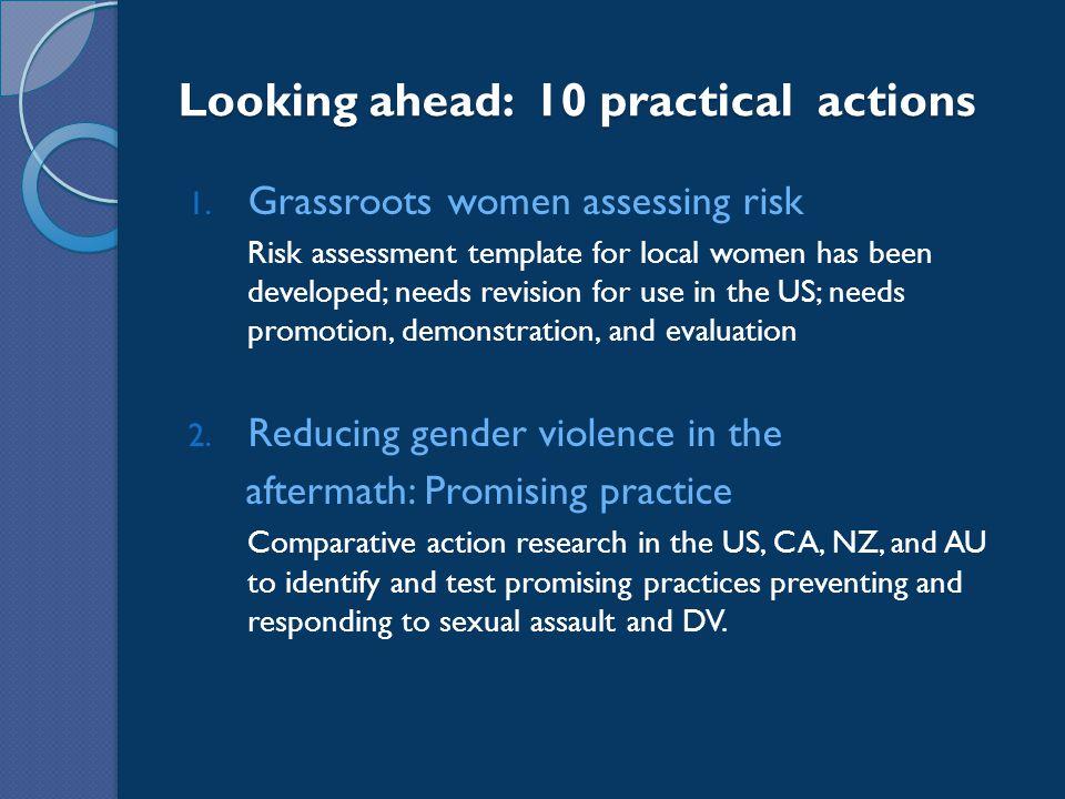Looking ahead: 10 practical actions 1.