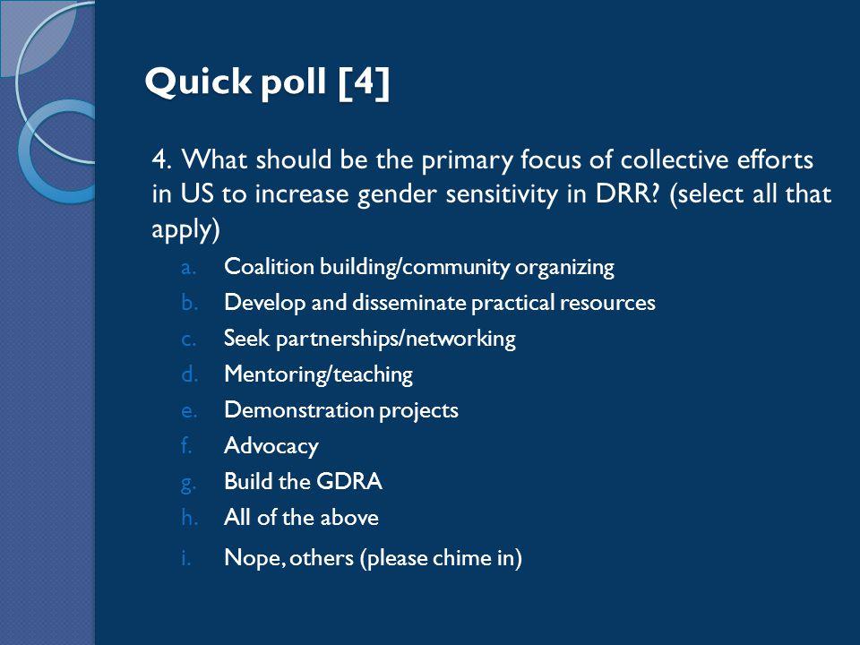 Quick poll [4] 4.