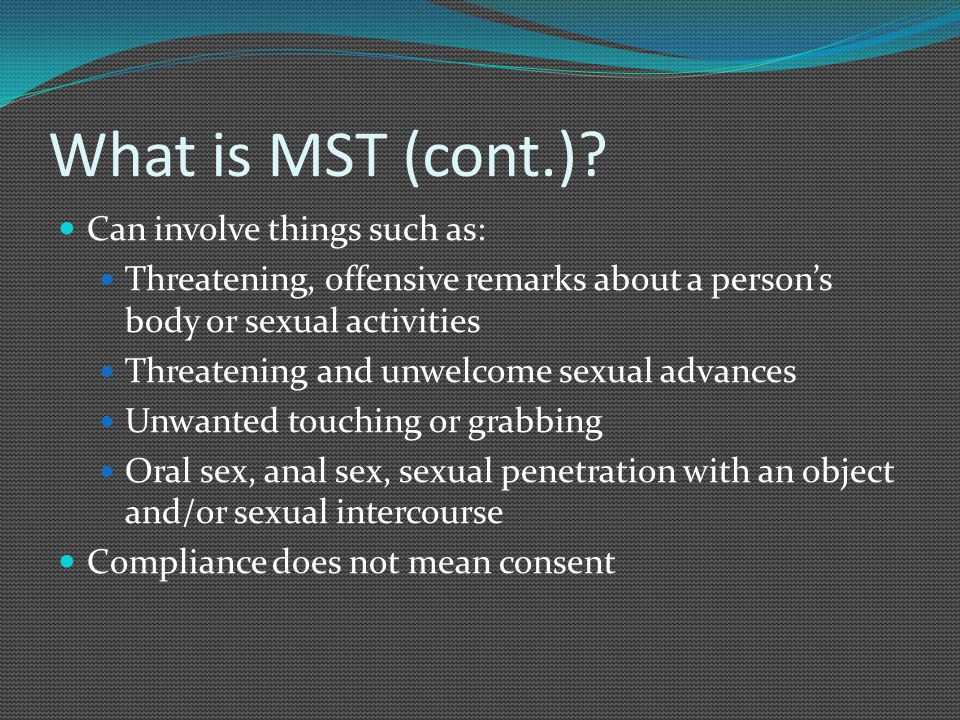 What is MST (cont.).