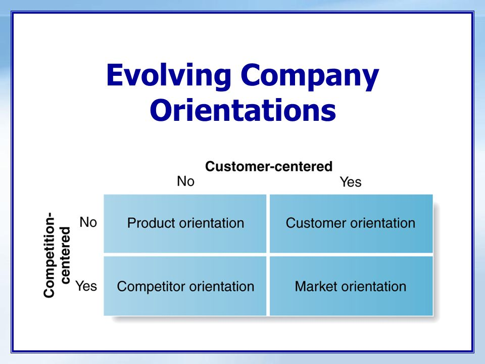Evolving Company Orientations