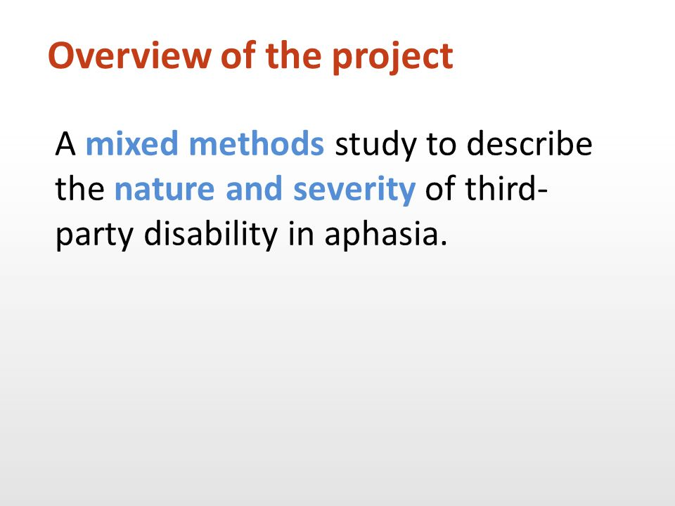 How are family members affected by having a relative with aphasia.
