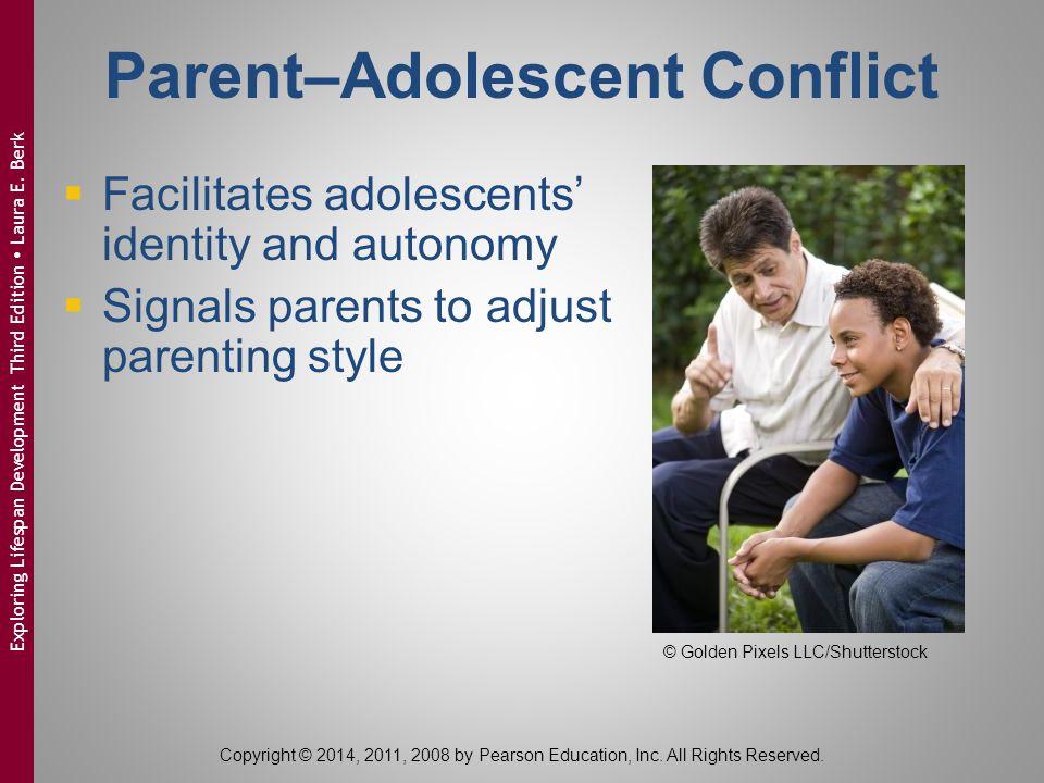 Parent–Adolescent Conflict  Facilitates adolescents' identity and autonomy  Signals parents to adjust parenting style © Golden Pixels LLC/Shuttersto
