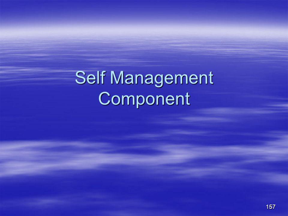 Self Management Component 157