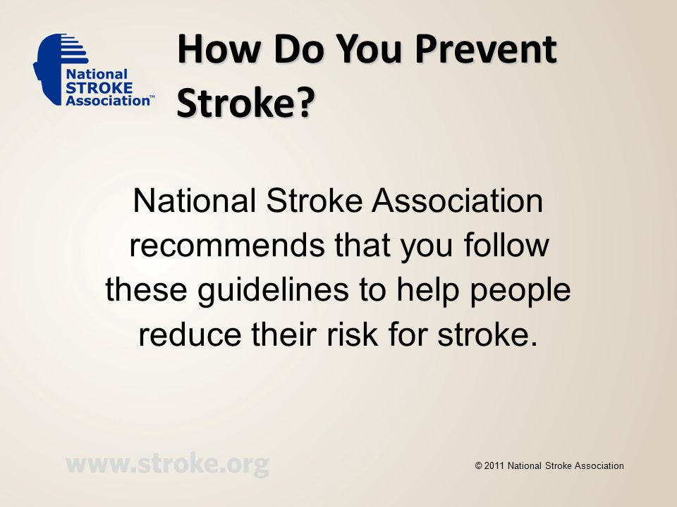 How Do You Prevent Stroke.