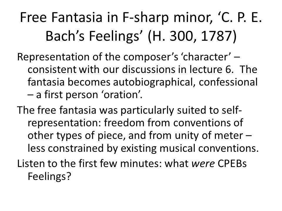 Free Fantasia in F-sharp minor, 'C. P. E. Bach's Feelings' (H.
