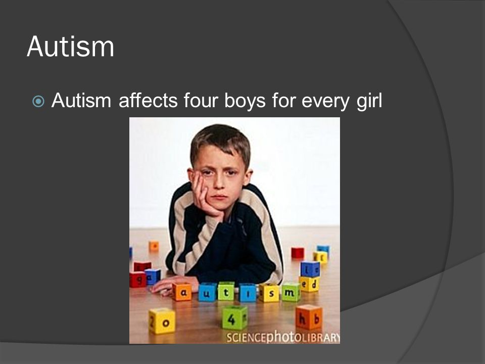 Autism  Autism affects four boys for every girl